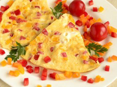 Omlet ze słodką papryką