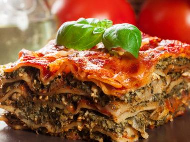 Lasagna ze szpinakiem
