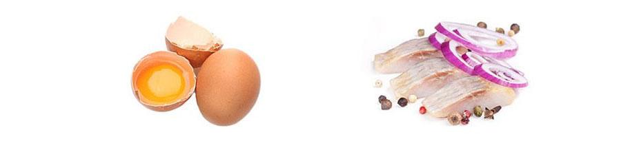 Jajka i śledź